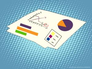 paperwork depicting charts and statistics illustration