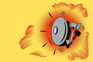alarm ringing illustration