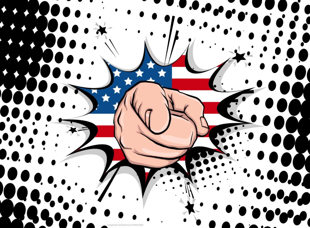 uncle sam pointing his finger out of the american flag